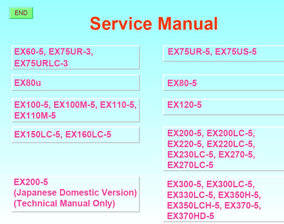 Hitachi Hydraulic Excavators Workshop Service Manual Download