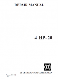 repair manual ZF 4 HP-20 Repair Manual PDF