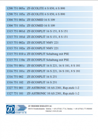 repair manual ZF MAN