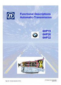 repair manual ZF 6HP19 6HP26 6HP32 Functional Descriptions Automatic-Transmission PDF