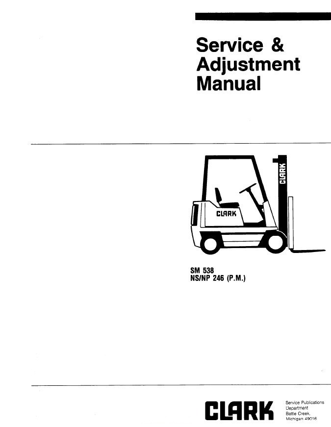 clark service manual sm538 clark ns np 246 sm538 service & adjustment manual pdf  at bayanpartner.co