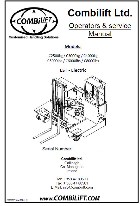 Combilift Forklift Parts Catalogue and Repair Manuals 2018