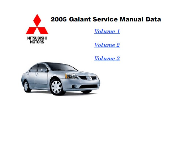 2012 mitsubishi galant owners manual sealed