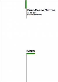 repair manual IVECO EUROCARGO TECTOR 12 TO 26 T REPAIR MANUAL PDF