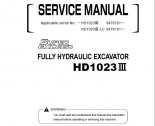repair manual Kato HD1023 III Fully Hydraulic Excavator Service Manual PDF