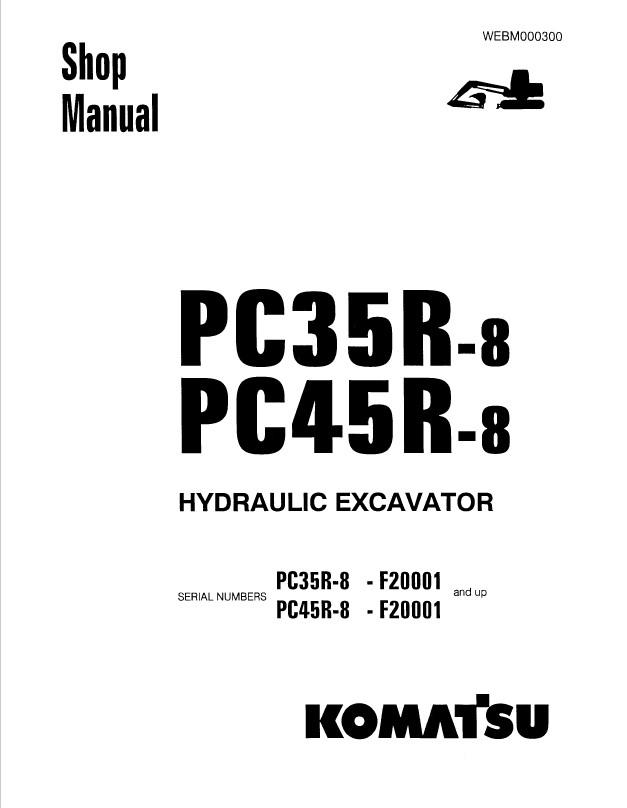 komatsu pc35 45r 8 hydraulic excavator shop manuals pdf rh epcatalogs com Komatsu PC40 Komatsu PC1200