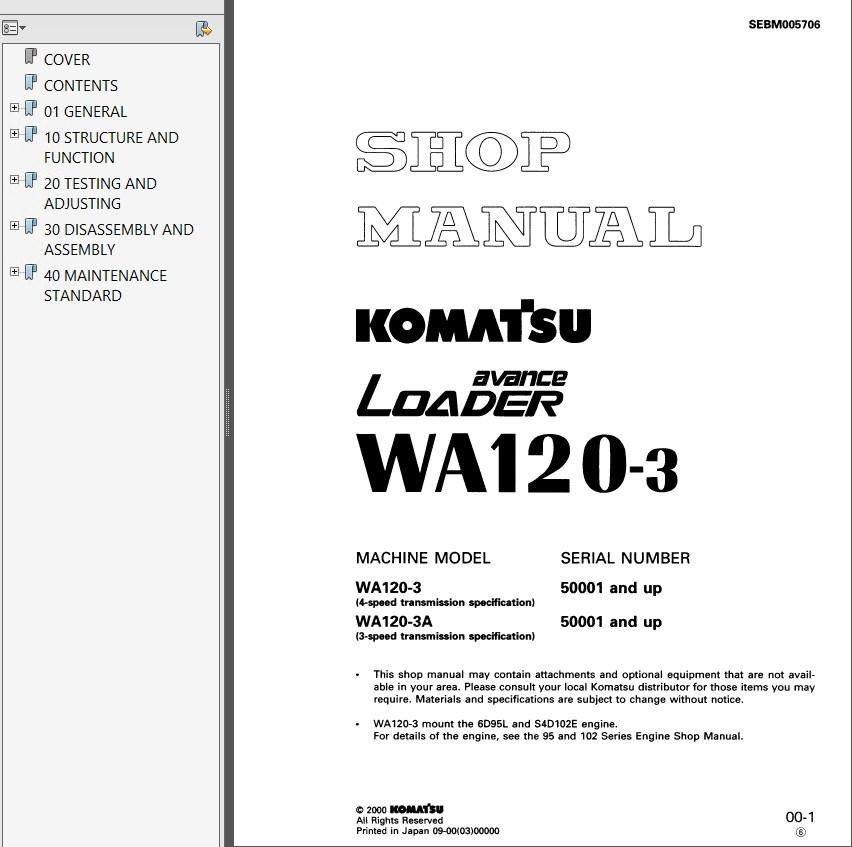 komatsu wa120 3 wa120 3a wa120 3 eu wheel loader pdf rh epcatalogs com 200 Komatsu Wheel Loader Komatsu 470 Wheel Loader
