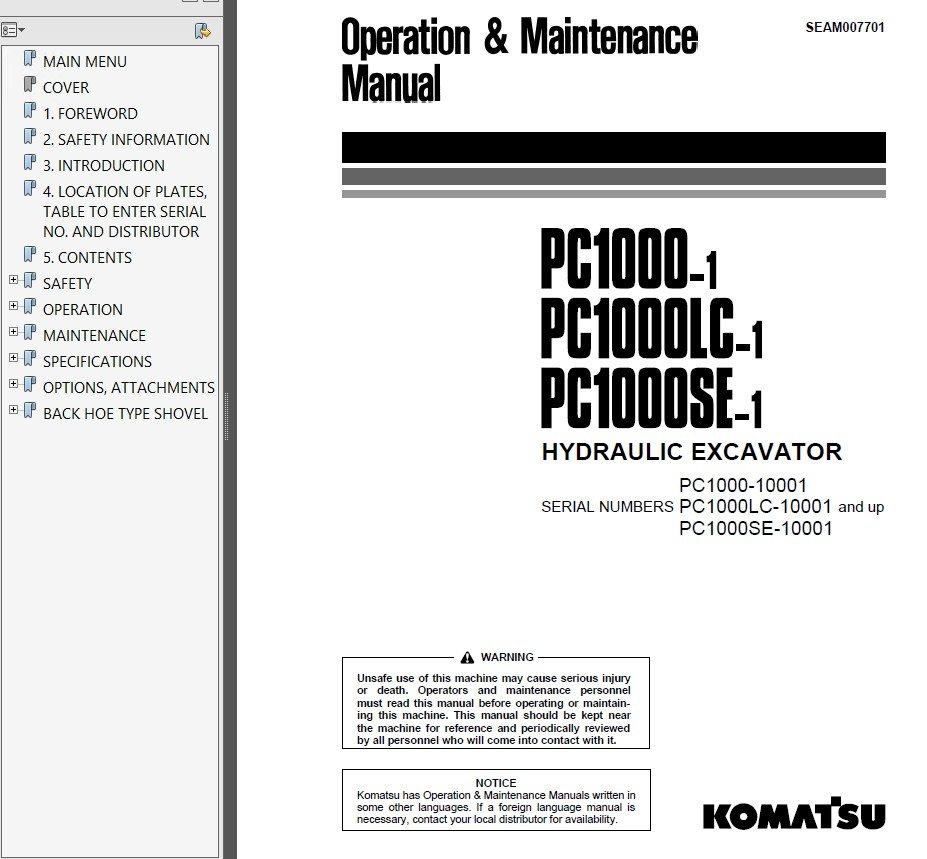 Service manual komatsu d20a 5 on