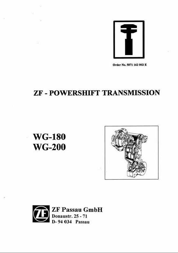 ZF WG-180, WG-200 Power Transmission Workshop Manual PDF