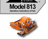 repair manual Bomag ProPaver Gilcrest Model 813 Operations & Instructions & Parts PDF