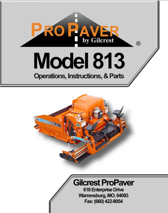 bomag propaver model 813 operations instructions parts pdf rh epcatalogs com BOMAG Paving Equipment BOMAG America