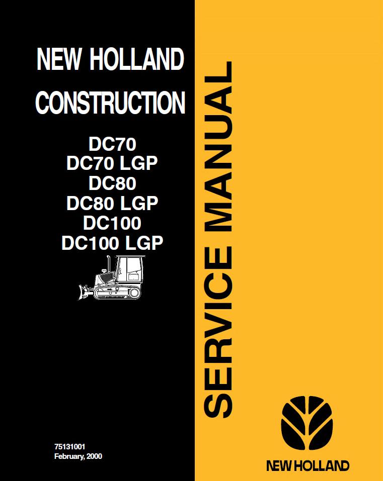 NEW HOLLAND DC70 OPERATORS OPERATION MAINTENANCE MANUAL