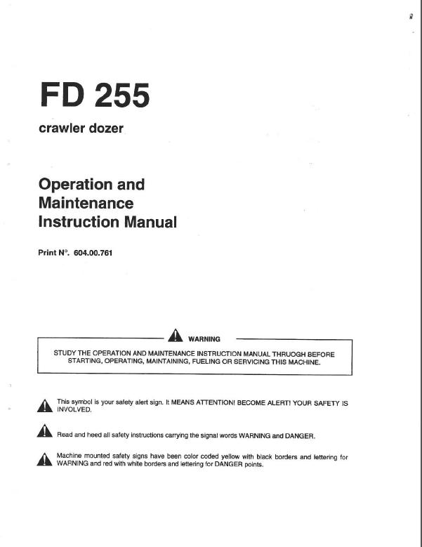 liebherr pr744 litronic crawler dozer operation maintenance manual from s n 9755