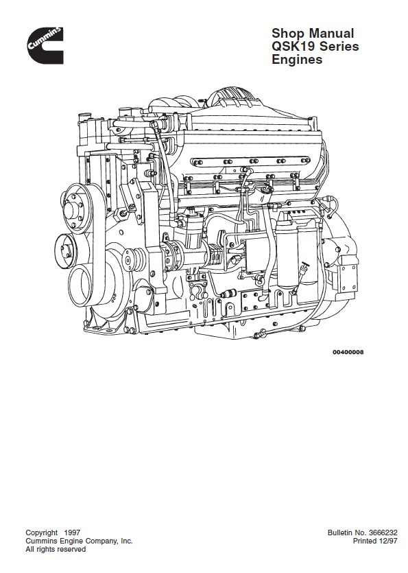 cummins qsk19 series engines shop manual pdf