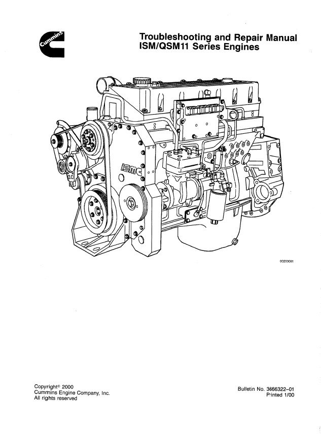cummins ism    qsm11 series engines repair manual pdf
