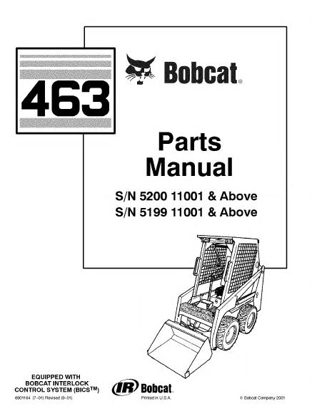 Bobcat 463 463 F Skid Steer Complete Parts Catalog parts manual software bobcat 463 skid steer loader parts manual pdf Bobcat 873 Wiring Harness Diagram at aneh.co