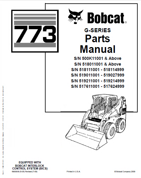 Bobcat 773 773 G Skid Steer parts catalog spare parts manuals bobcat 773 parts diagram experts of wiring diagram \u2022