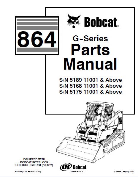 bobcat 864 g series skid steer loader parts manual pdf rh epcatalogs com Bobcat Skid Steer Electrical Diagrams Bobcat 873 Parts Diagram