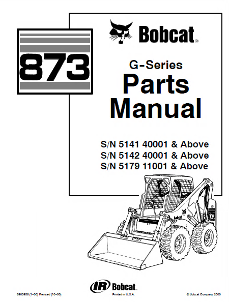 Bobcat 873 873 G Skid Steer Parts Manual spare parts catalog bobcat 873 g series skid steer loader parts manual pdf bobcat 873 wiring diagram at creativeand.co