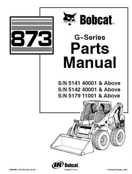 Bobcat 873 873 G Skid Steer Parts Manual spare parts catalog bobcat 873 g series skid steer loader parts manual pdf bobcat 873 wiring diagram at edmiracle.co