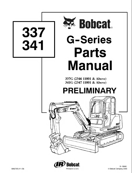 bobcat 337 341 g series preliminary parts manual pdf. Black Bedroom Furniture Sets. Home Design Ideas