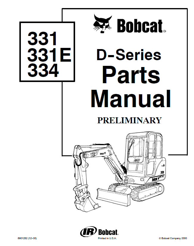 Bobcat 334 Parts Diagram