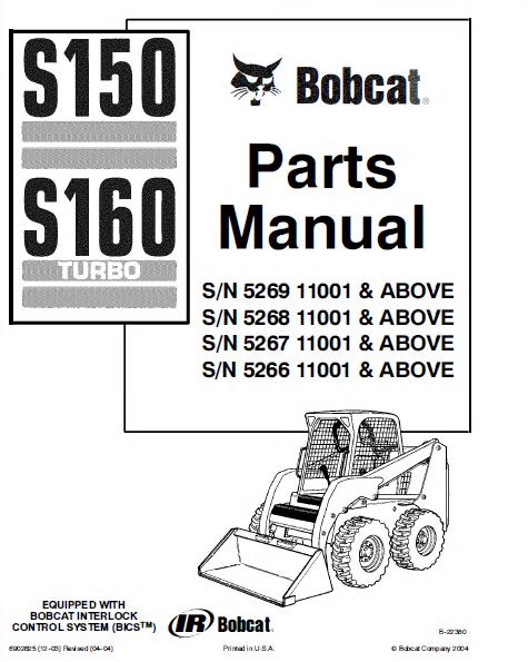 bobcat s150 & s160 skid steer loader parts manual pdf, spare parts Bobcat Skid Loader Parts Diagrams spare parts catalog bobcat s150 & s160 skid steer loader parts manual pdf bobcat skid loader parts diagrams