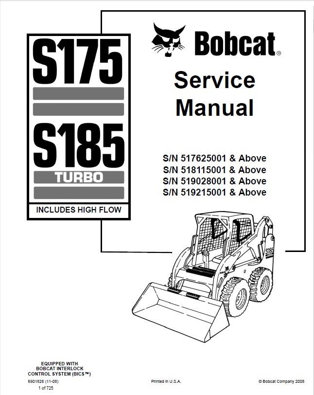 Bobcat 741 742 743 743DS Skid Steer Loader Service Manual