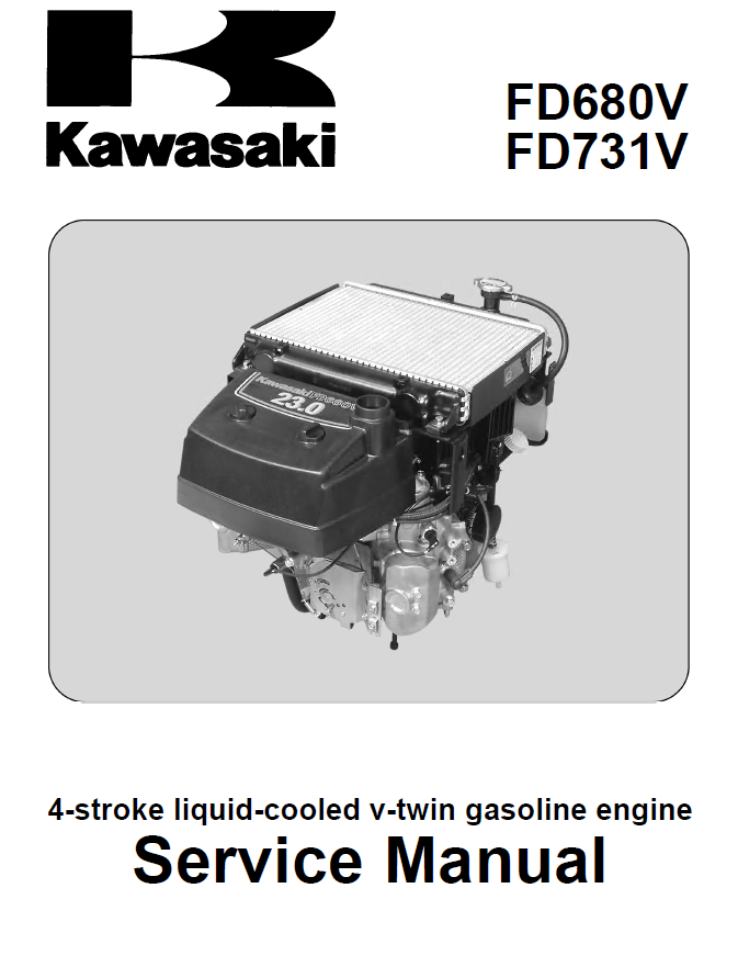 Kawasaki Engine Fd680v Fd731v Pdf Repair Manual Download