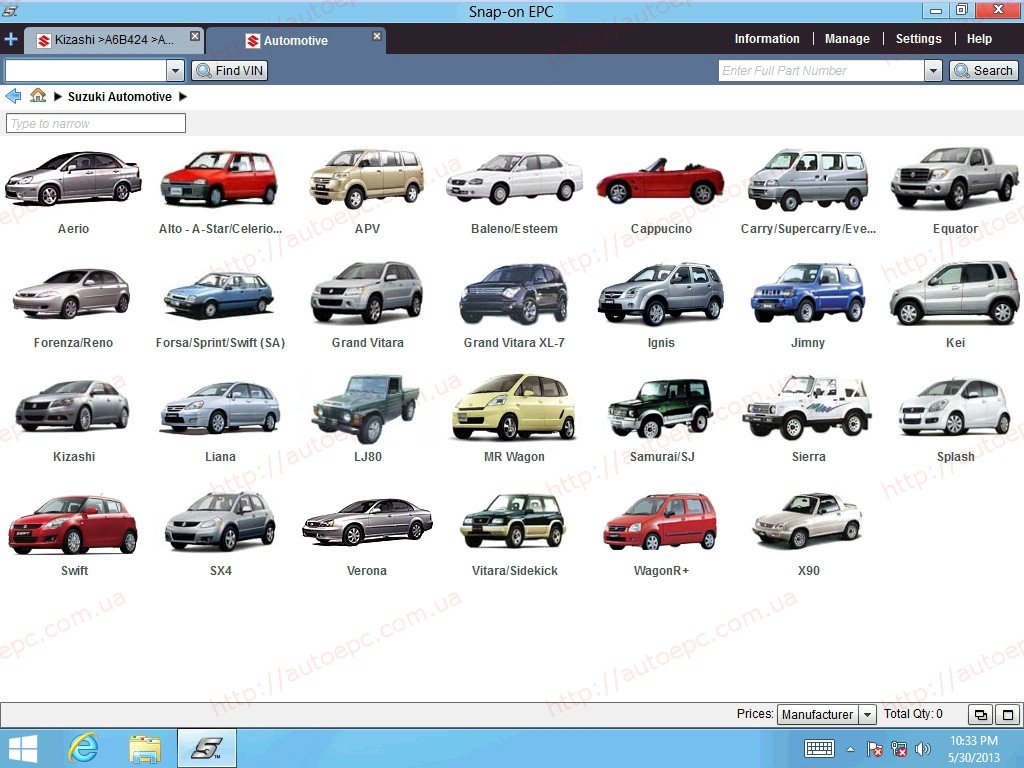 suzuki worldwide epc5 2013 parts catalog, spare parts catalog