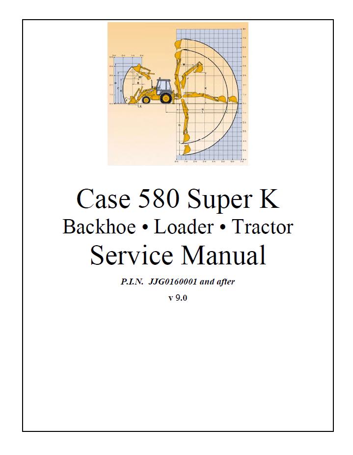 Case 580sk Tractor Backhoe Workshop Service Manual Download