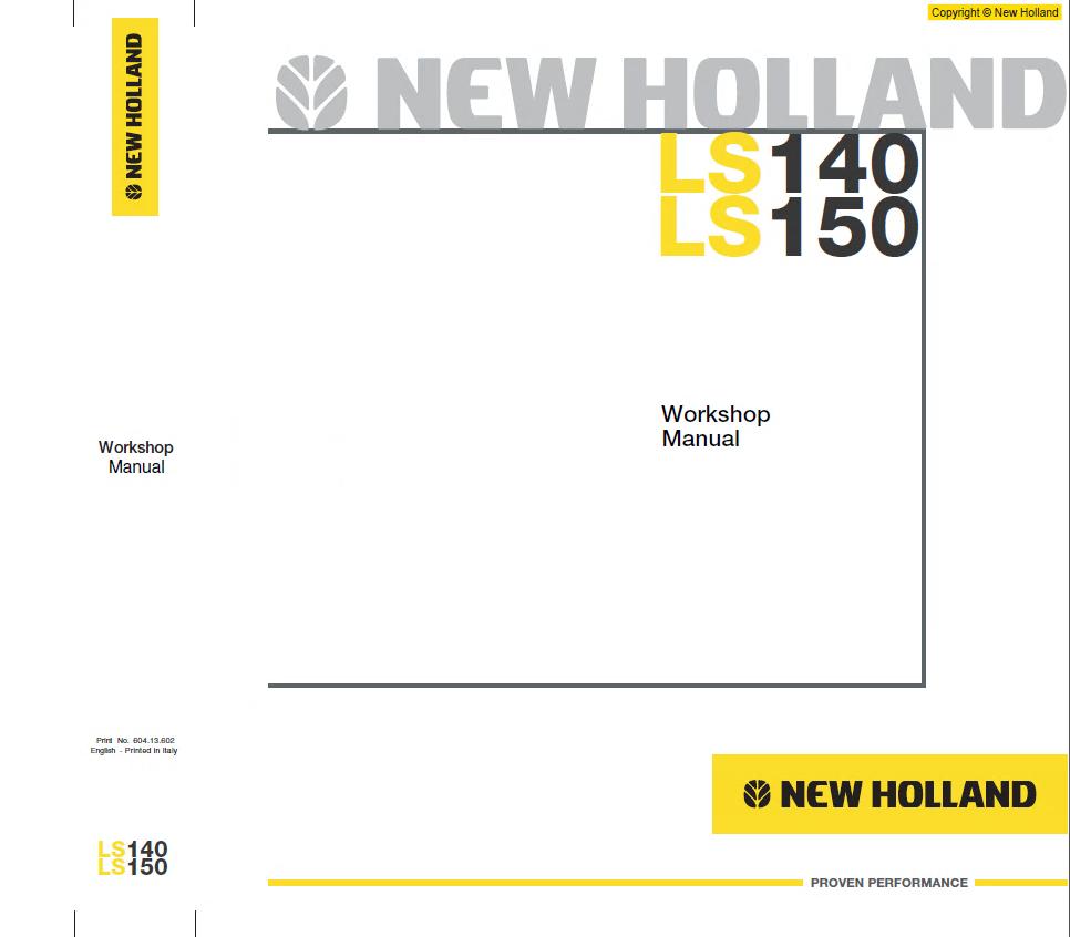 new holland ls140 ls150 skid steer loader pdf manual rh epcatalogs com New Holland LS170 2013 New Holland Tractors