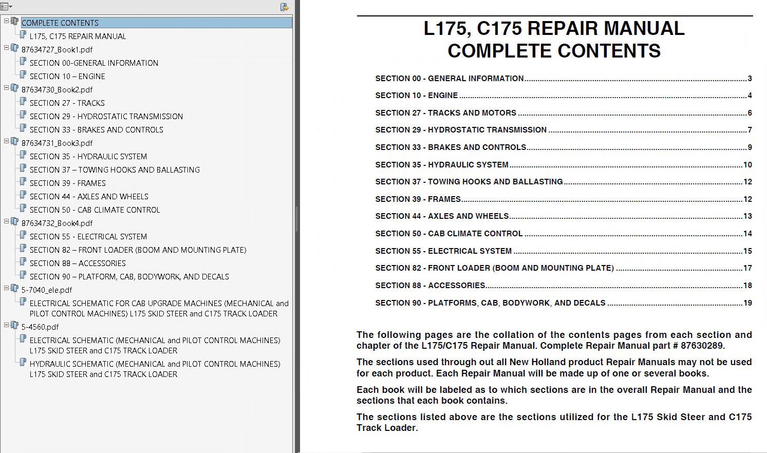 New Holland L175  U0026 C175 Loaders Repair Manual Pdf