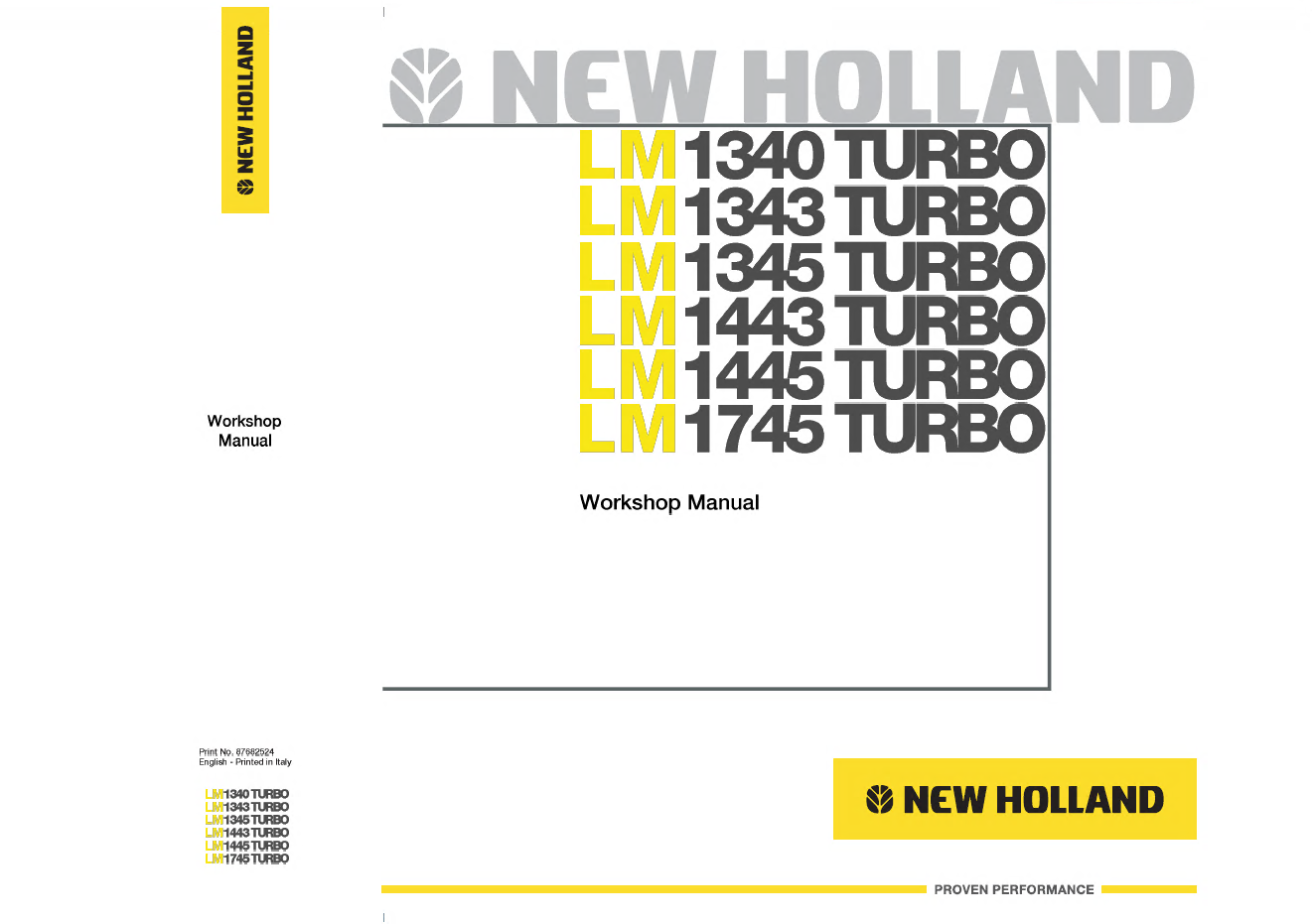 repair manual New Holland LM1340 LM1343 LM1345 LM1443 LM1445 LM1745 TURBO  Telehlander PDF