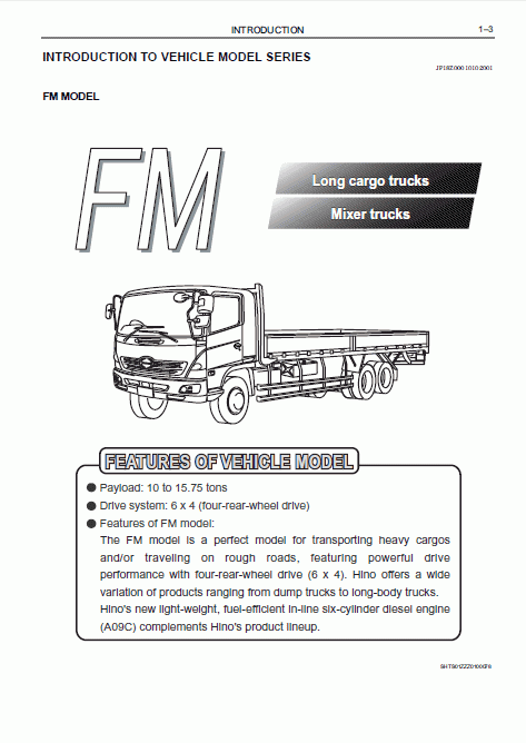 Hino    Workshop Manual    500    Series Download
