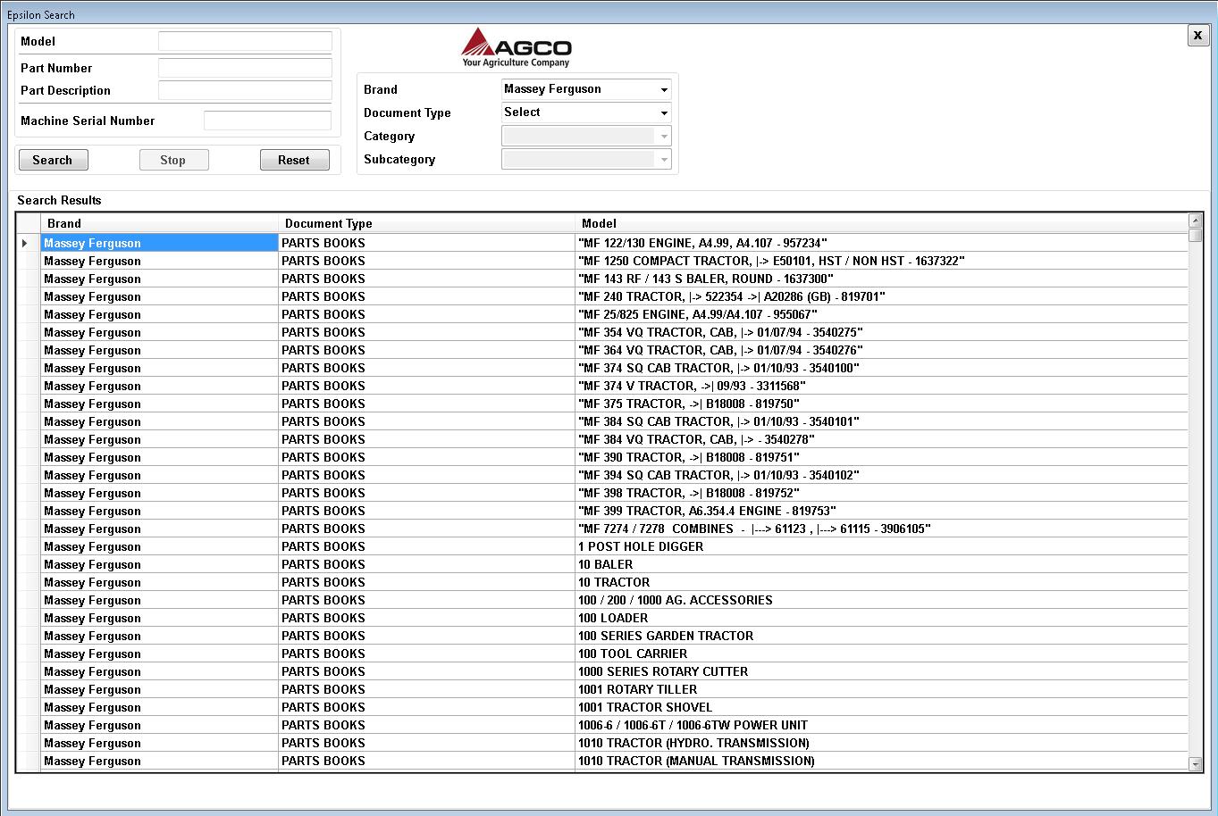 Macdon 4000 Power Mower Conditioner Parts Catalog