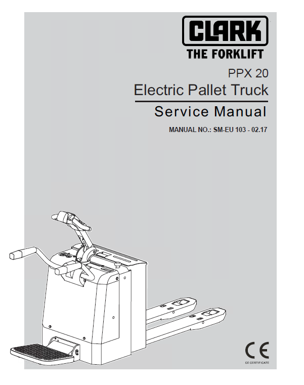 repair manual clark electric pallet truck ppx20 pdf service manual