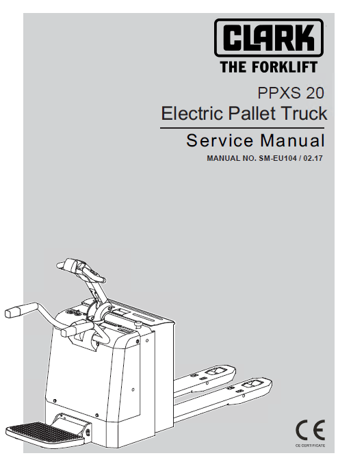 repair manual clark electric pallet truck ppxs20 pdf service manual