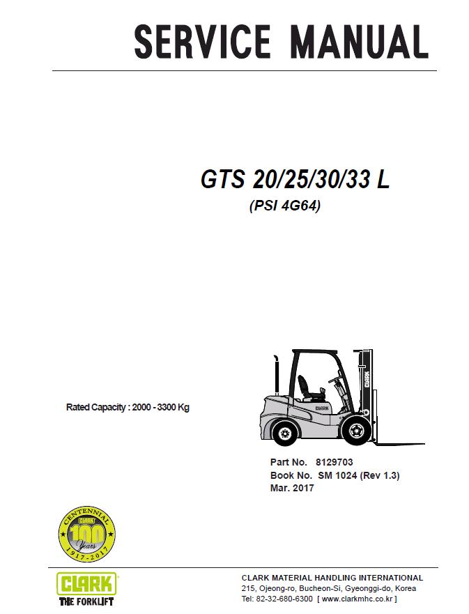 Clark forklift owners user manuals user manuals array clark forklift gts 20 25 30 33 l psi 4g64 service manual pdf rh fandeluxe Gallery