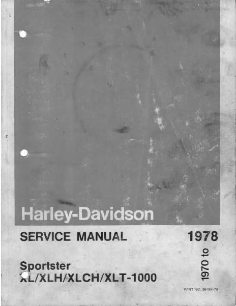 Harley Davidson Sportster Xl  Xlh  Xlch  Xlt