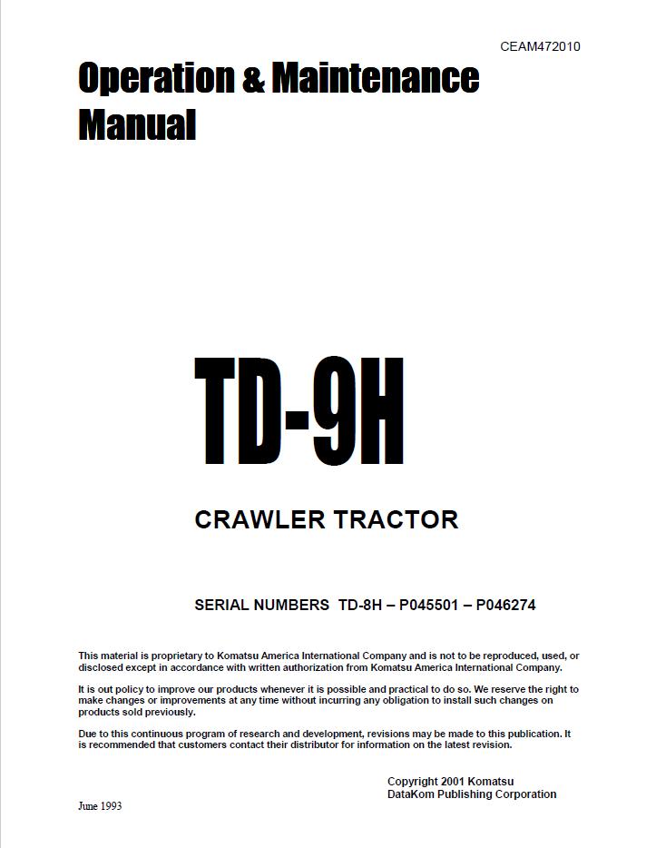 Komatsu Crawler Tractor Td