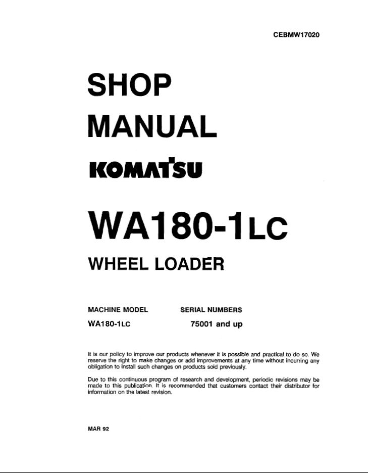 Komatsu Wa180
