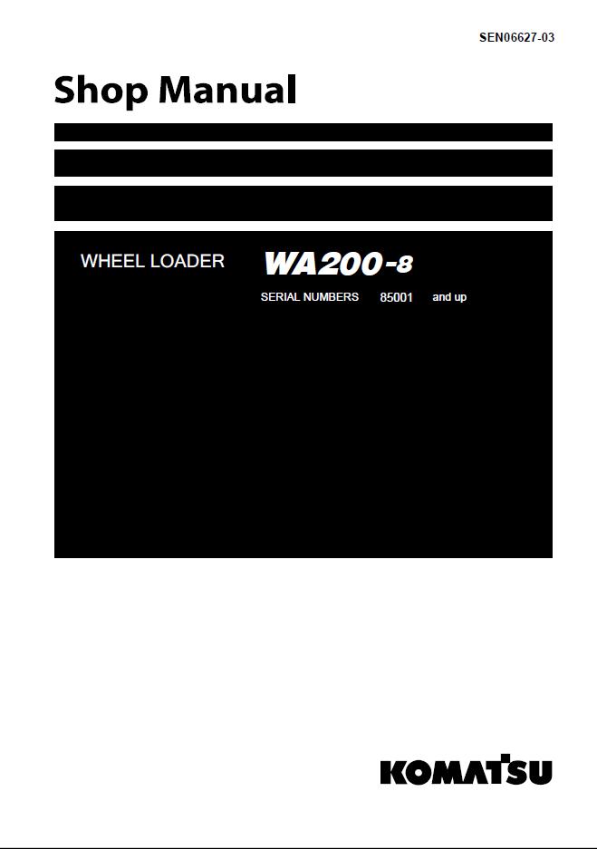 Komatsu Wheel Loader Wa200