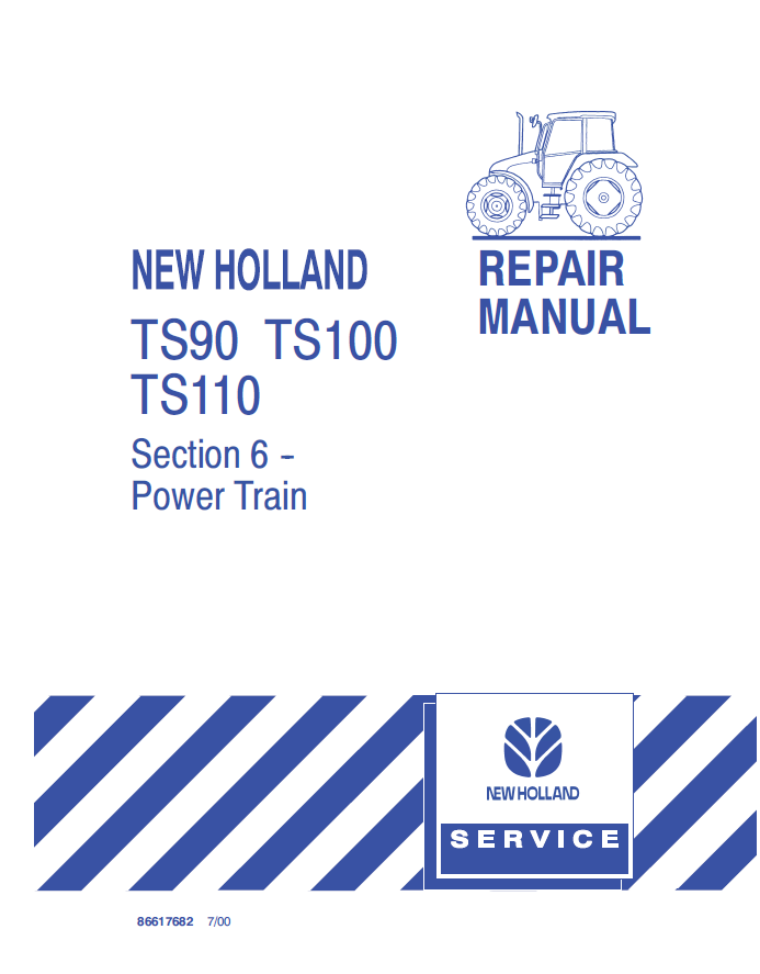 New Holland Ts90  Ts100  U0026 Ts110 Tractors Pdf Manuals