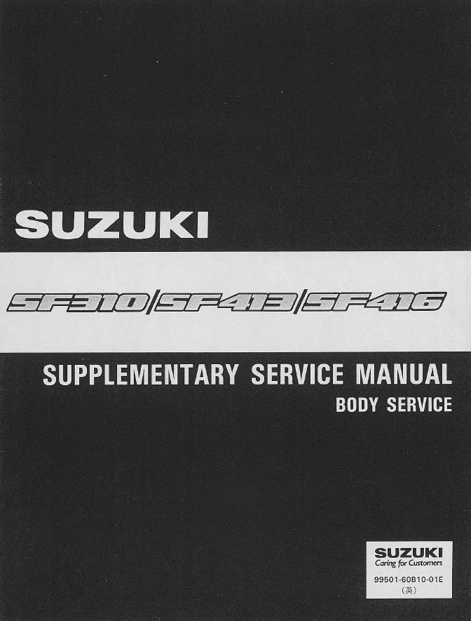 Suzuki Swift Sf416  Sf413  Sf310 Factory Pdf Set Of Manuals