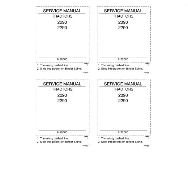 Case 2090  U0026 2290 Tractors Pdf Service Manual