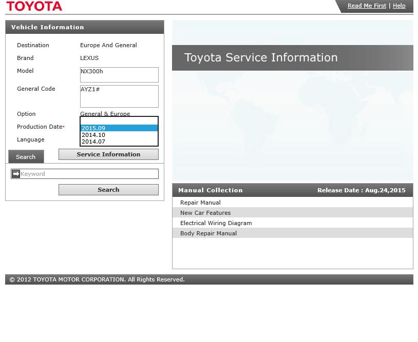 Lexus Cars Nx 300h Service Information