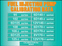 repair manual Komatsu Fuel Injection Pump Calibration Data