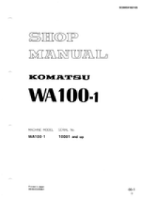 repair manual Komatsu Wheel Loader WA100-1
