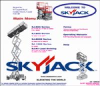 spare parts catalog repair manual SkyJack